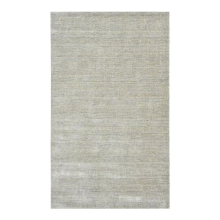 Deloris, Contemporary Solid Handmade Area Rug, Oat, 5 X 8 For Sale
