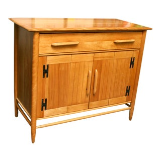 1950's Vintage Cushman Solid Birch Petit Sideboard For Sale