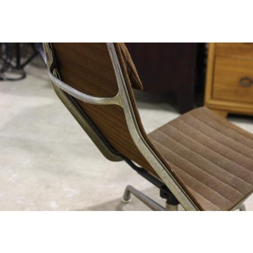 Vintage Aluminium Group Lounge Chair and Ottoman - Image 3 of 6