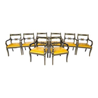 Maison Jansen Attributed Regency Style Armchairs - Set of 8 For Sale