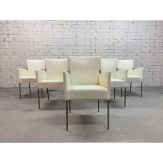 Vintage Italian Creamy White Designer Dining Chairs Restored, Set of 6 Preview