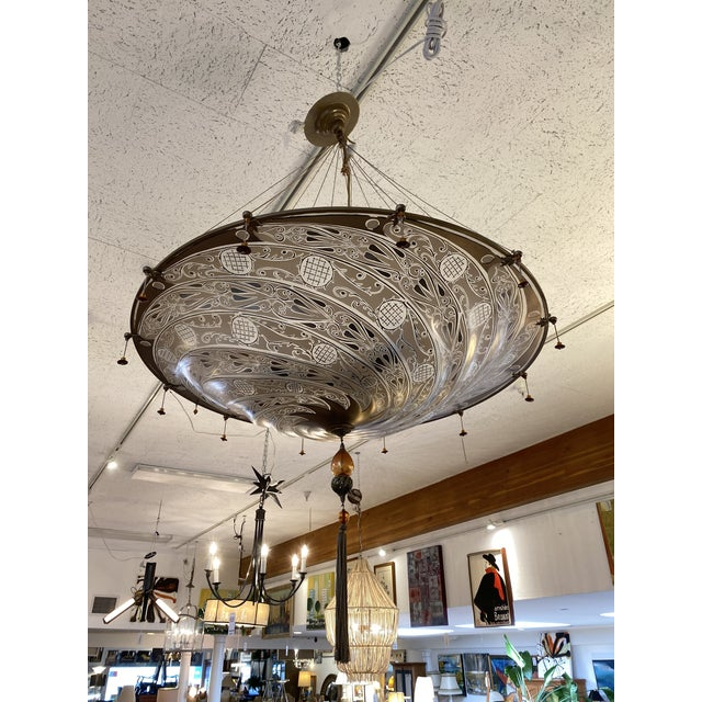 Mariano Fortuny Archeo Venice Murano Glass Chandelier For Sale - Image 13 of 13