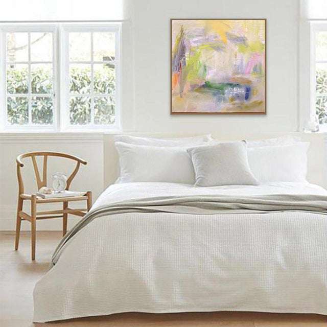 "Canvas ""Misty Morning"" by Trixie Pitts Abstract Expressionist Painting For Sale - Image 7 of 12"