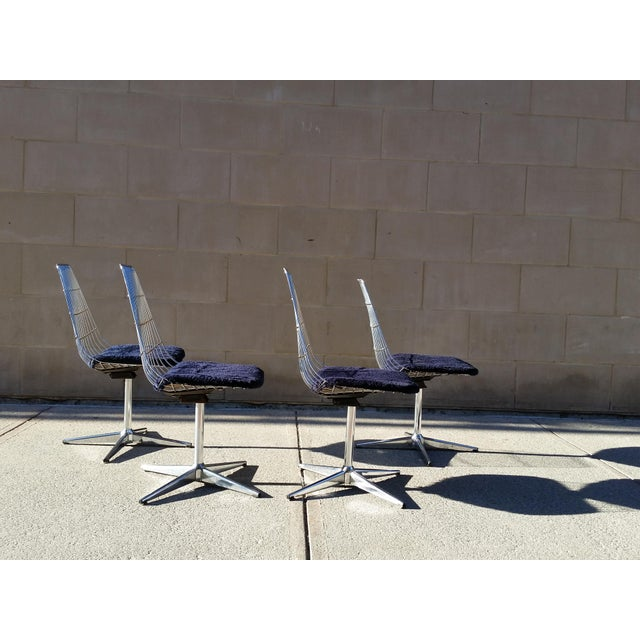 Blue Chromcraft Modern Chairs - Set of 4 - Image 7 of 8