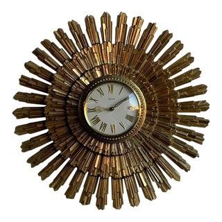 Art Deco Starburst Clock For Sale
