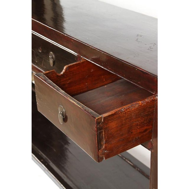 18th Century Five-Drawer Chinese Scholar's Table For Sale - Image 9 of 10