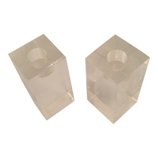 Lucite Candlesticks For Sale