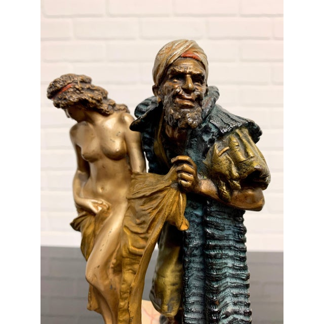 Early 20th Century Cold Painted Orientalist Vienna Bronze by Franz Bergman For Sale - Image 5 of 9