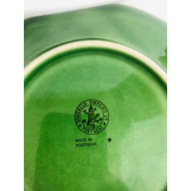 French Bordallo Pinherio Fruit Pattern Salad Plates - Set of 4 For Sale - Image 3 of 8