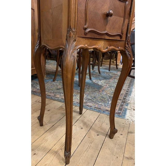 1920s French Walnut Bedside Cabinet For Sale - Image 4 of 7