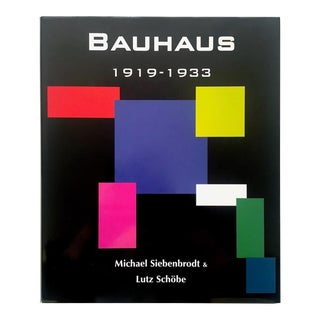 """ Bauhaus 1919 - 1933 "" Rare 1st Edition Large Volume Hardcover Modernism Design Survey Book For Sale"