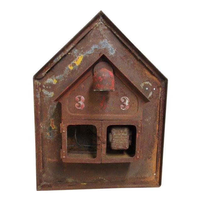 Antique Original Fire Alarm Call Edward Box For Sale