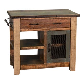 "Crafters and Weavers Bayshore Kitchen Island - 39"" For Sale"