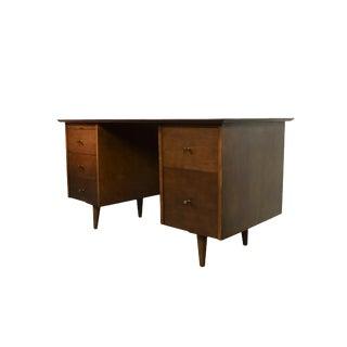 Paul McCobb Planner Group Winchendon Maple Double Pedestal Desk For Sale