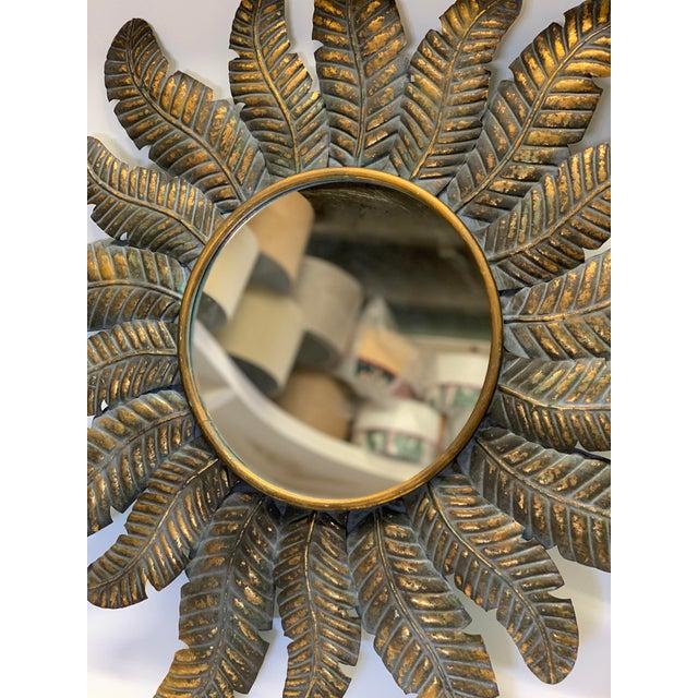 Spanish Sunburst Wall Mirror For Sale - Image 4 of 6