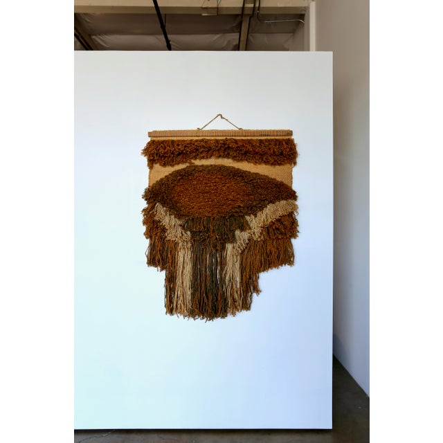 1970s Sculptural Wall Hanging Fiber Art For Sale In Los Angeles - Image 6 of 9