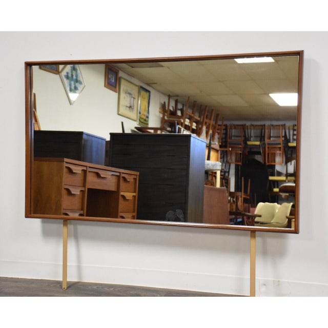 t.h. Robsjohn-Gibbings for Widdicomb Walnut Mirror For Sale In Boston - Image 6 of 6