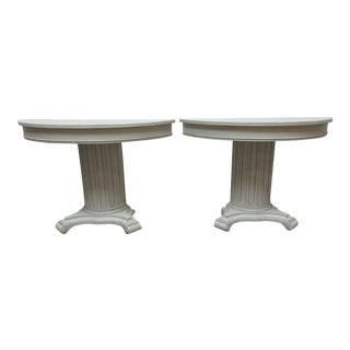 Gustavian Style Column Console Tables - a Pair For Sale