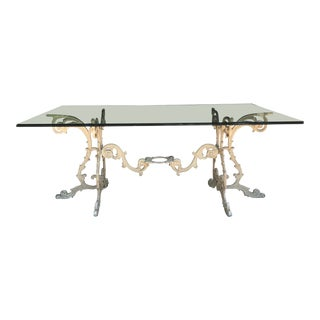 1950s Hollywood Regency Molla Custom Made Dining Table For Sale