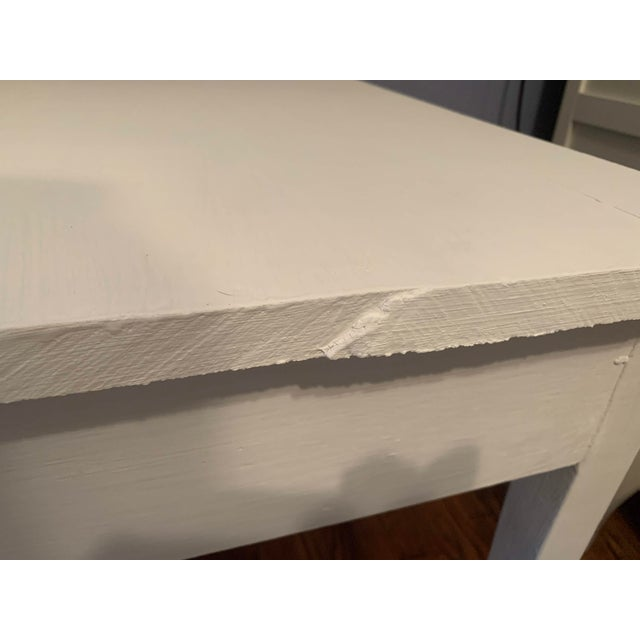 1960s Boho Chic Desk Painted in White Chalk Paint For Sale - Image 12 of 13