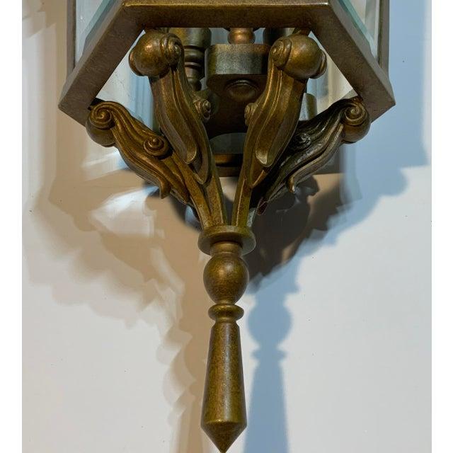1960s Vintage Six Sided Indoor Hanging Lantern Chandelier For Sale - Image 5 of 13
