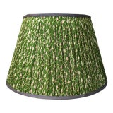 Image of Penny Morrison Green Floral Motif Lamp Shade For Sale