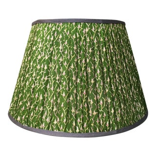 Penny Morrison Green Floral Motif Lamp Shade For Sale