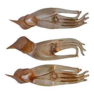 Vintage Resin Hands - Set of 3