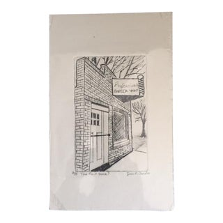 Barber Shop Etching For Sale