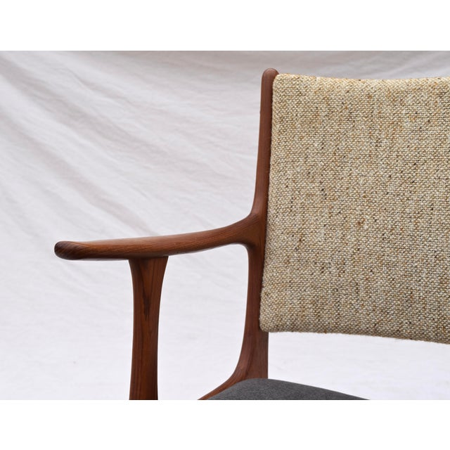 Brown Danish Modern Dining Chairs by Johannes Andersen- Set of 6 For Sale - Image 8 of 11