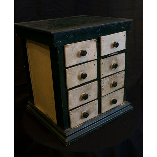 Americana Miniature Green Organizer With Dog Liners For Sale - Image 3 of 7