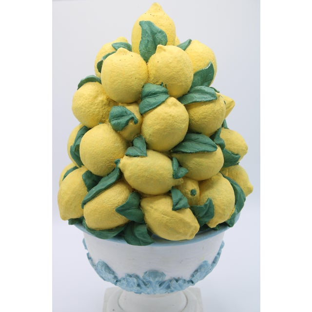 French Tall Vintage French Lemon Topiary Basket / Centerpiece For Sale - Image 3 of 11