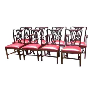 C. 1910 English Set of Eight Chairs For Sale