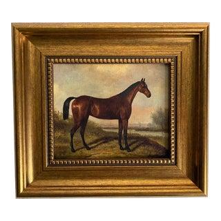 Petite Gold Framed Horse Print For Sale