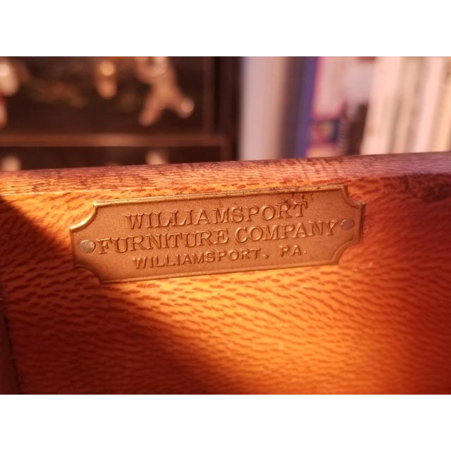 Williamsport Walnut Burl & Mahogany Vanity Table - Image 8 of 11