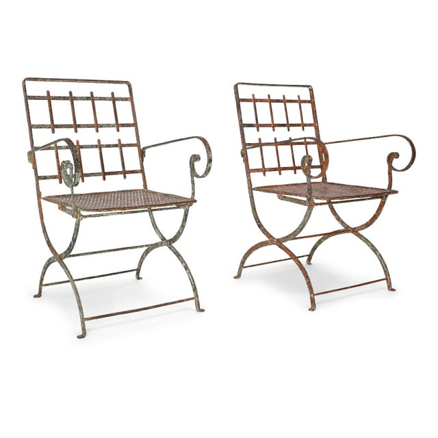 Pair of French Iron Garden Chairs For Sale - Image 13 of 13