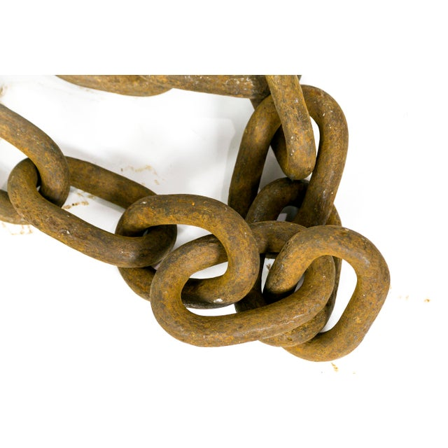 Mid 20th Century Gigantic Sculptural Antique Iron Chain For Sale - Image 5 of 9
