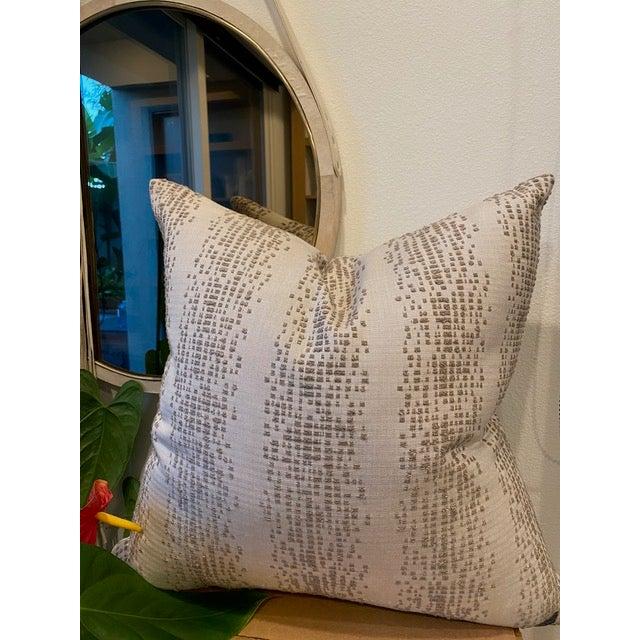 Custom designer fabric pillow Indoor/outdoor Down insert included