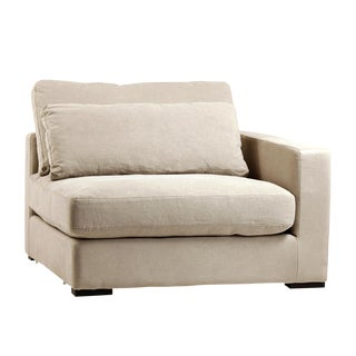 Raw Linen Sectional Sofa (Left Arm)