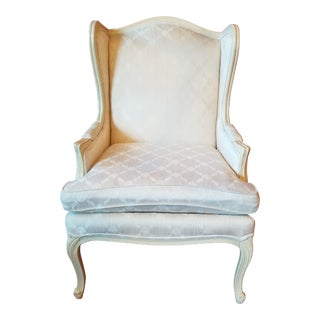 Vintage French Provincial Wingback Armchair For Sale