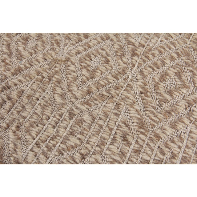 Not Yet Made - Made To Order Sanz Flatweave Wool Beige Rug - 9'x12' For Sale - Image 5 of 6