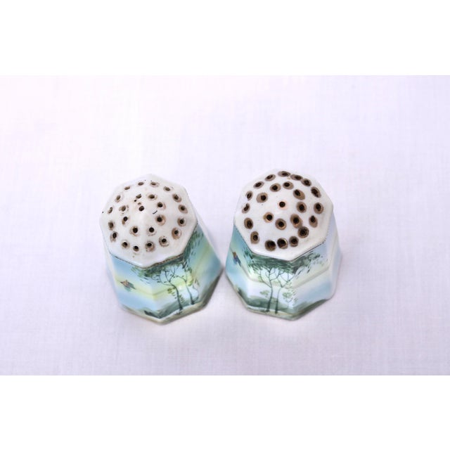 Ceramic Vintage Hand Painted Nippon Salt & Pepper Shakers - a Pair For Sale - Image 7 of 10