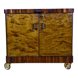 1930s Rootwood & Rosewood Bar Cabinet With Intarsia For Sale
