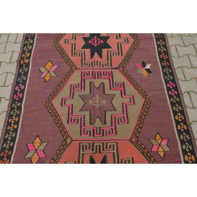 Hand-Woven Turkish Runner - 5′6″ × 13′2″ - Image 8 of 10