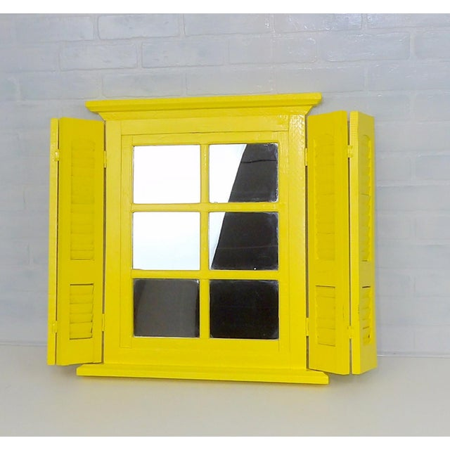 Yellow Window Pane Wall Mirror - Image 9 of 9