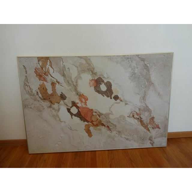 Vintage Kay Sullivan Abstract Acrylic and Washi Painting For Sale - Image 9 of 9