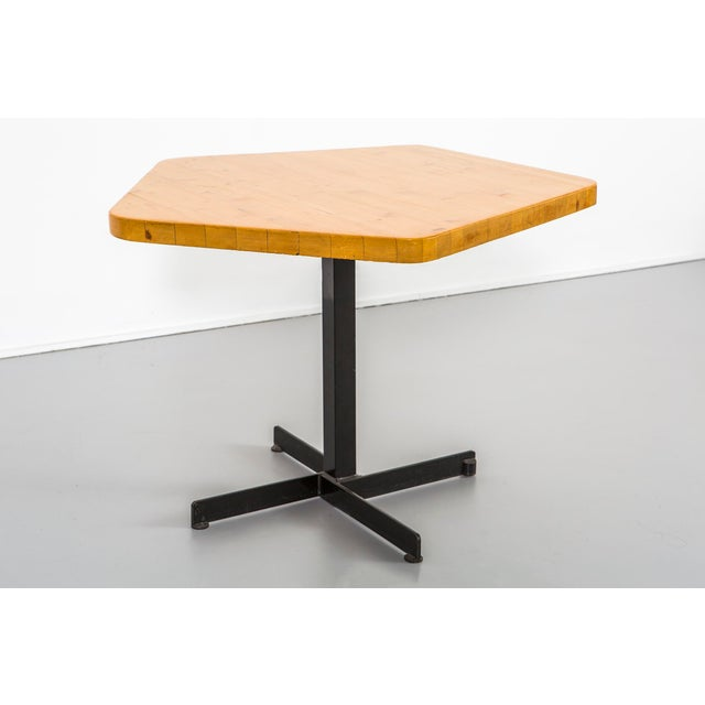 Les Arcs Pentagonal Table by Charlotte Perriand For Sale - Image 9 of 9