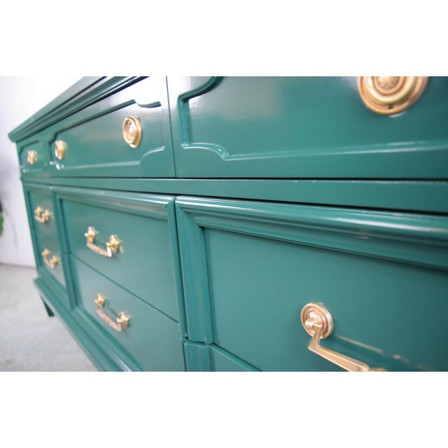 19th Century Modern Hunt Club Gloss Lacquer Green Dresser For Sale In San Francisco - Image 6 of 10
