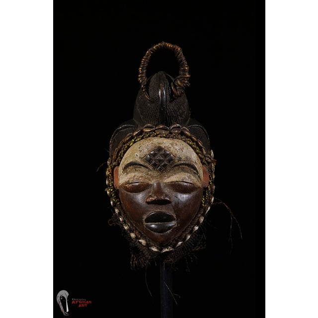 Punu African Tribal Mask from Gabon - Image 3 of 8