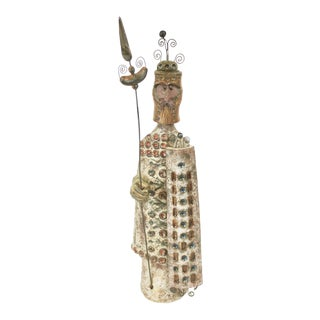 1960s Raphaël Giaroussu Ceramic Chevalier Sculpture For Sale